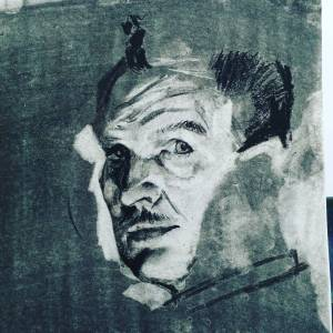 Vincent Price - charcoal portrait by Phi Gibeau